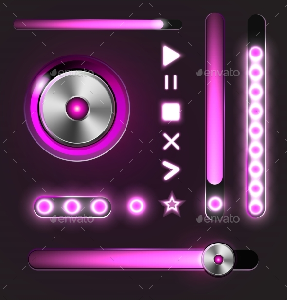 GraphicRiver Equalizer and Metal Player Buttons 10861007