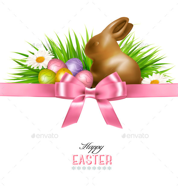 GraphicRiver Happy Easter Background Colorful Easter Eggs 10861213