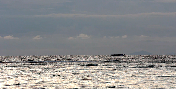 VideoHive Small Boat Cruising on the Sea 10861228