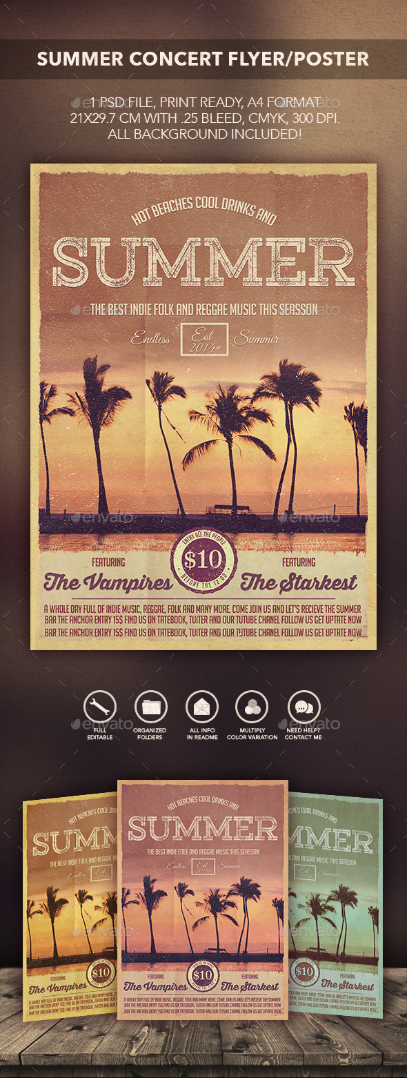 GraphicRiver Summer Concert Flyer Poster 10861240