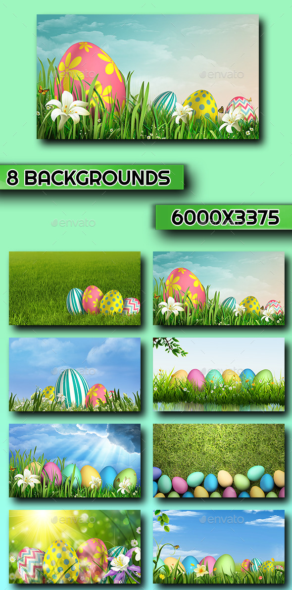 GraphicRiver 8 Easter Backgrounds 10861299