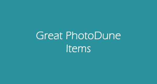 Great PhotoDune Items