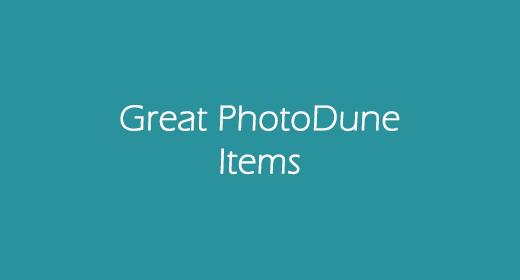 Great PhotoDune Items