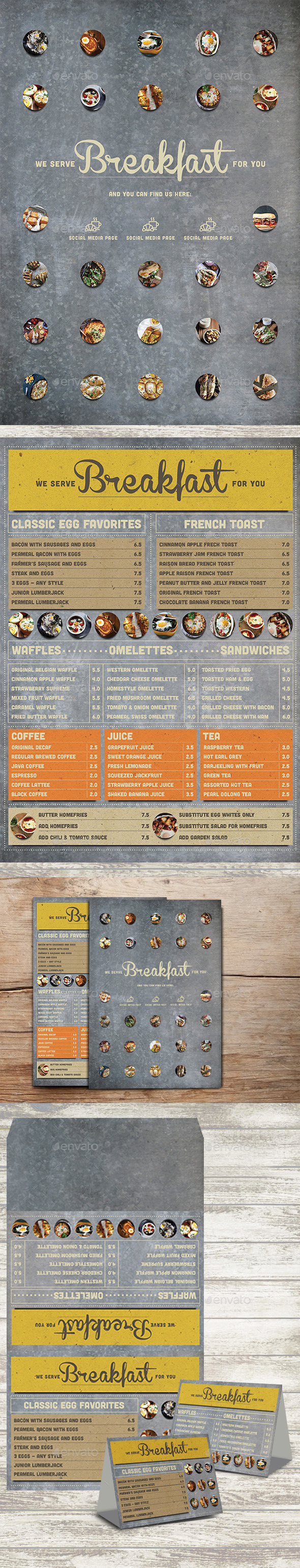 GraphicRiver Rustic Breakfast Menu 10789685