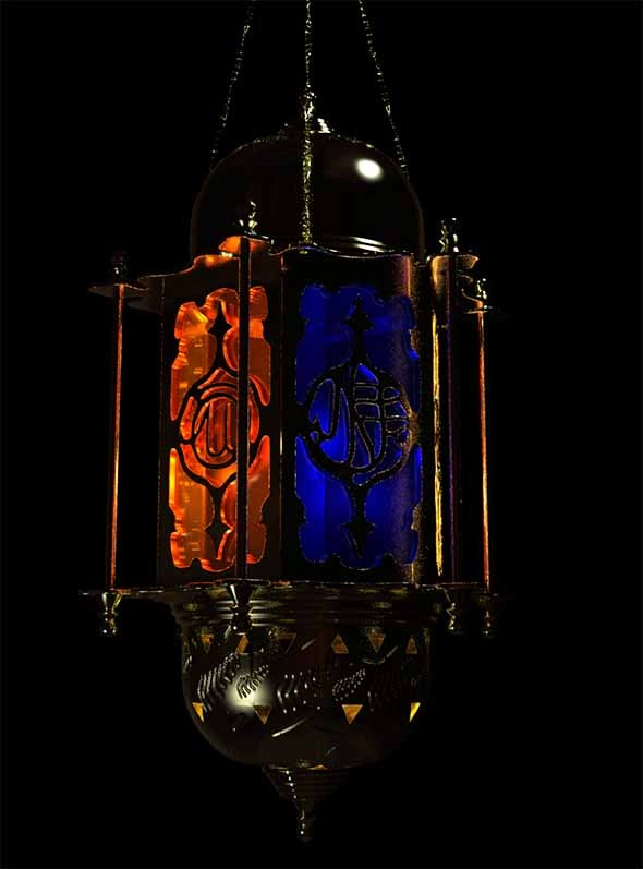 3DOcean Moroccan Persia styled Lantern 10861651