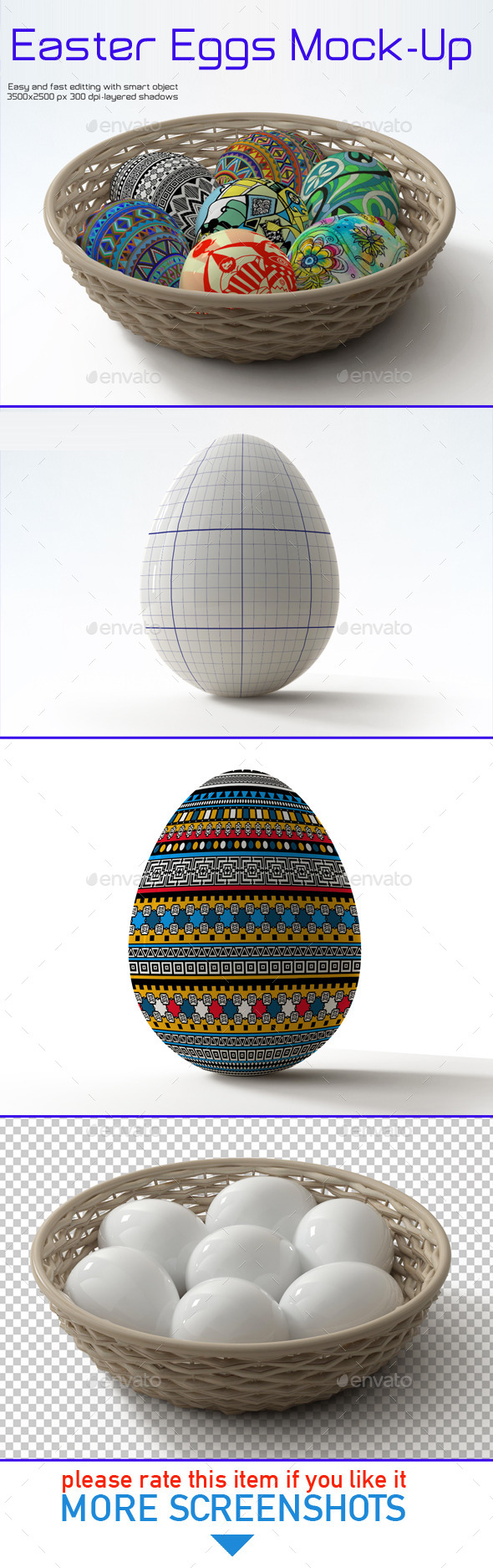 GraphicRiver Easter Eggs Mock-up 10861705
