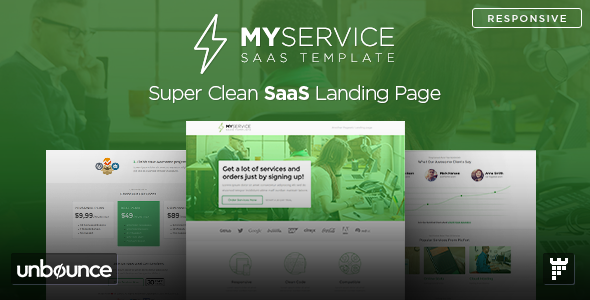 ThemeForest MYSERVICE SaaS Product Landing Page Template 10862013