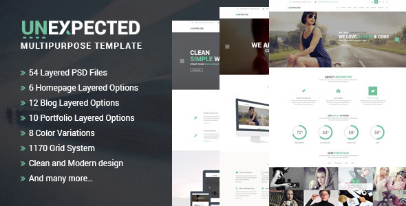 ThemeForest Unexpected Multipurpose PSD Template 10771651
