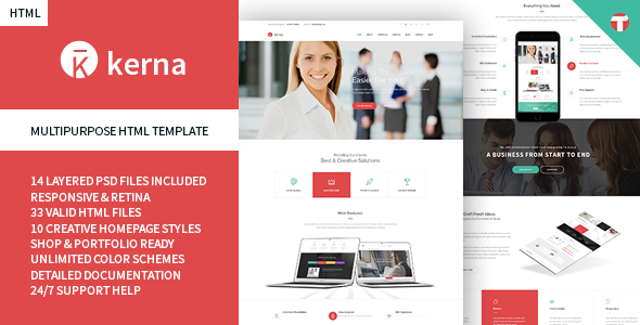 ThemeForest Kerna Responsive Multi-Purpose HTML Template 10862391