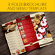 Trifold restaurant brochure and menu  - GraphicRiver Item for Sale