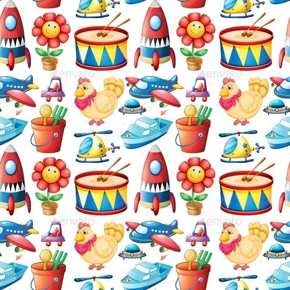 GraphicRiver Seamless Toys 10863083