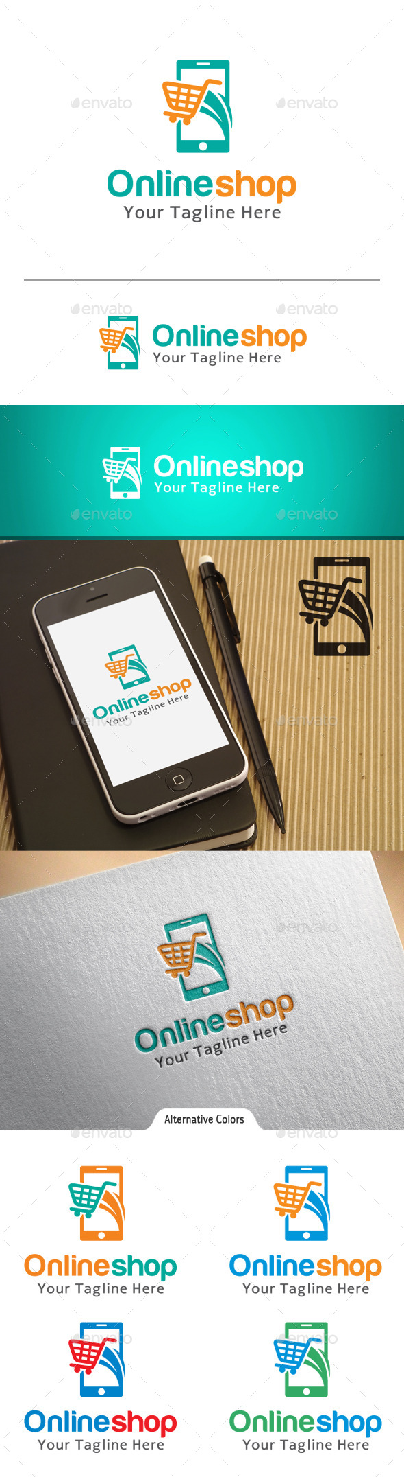 Online Shop Logo Graphics Designs Templates From Graphicriver