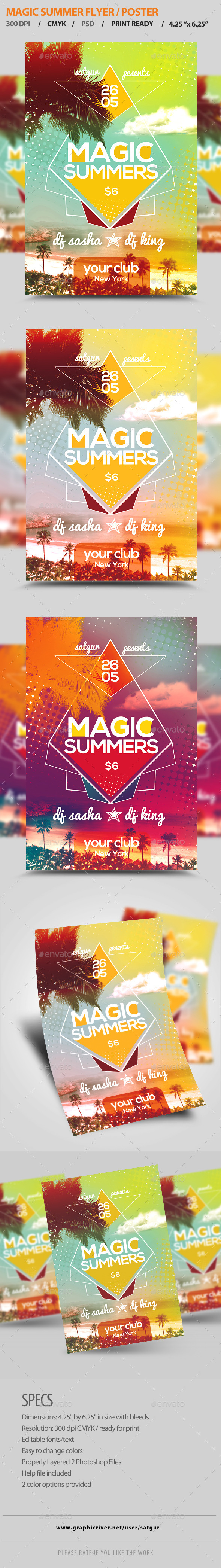 GraphicRiver Magic Summer Party Flyer 10863228