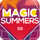 Magic Summer Party Flyer - GraphicRiver Item for Sale