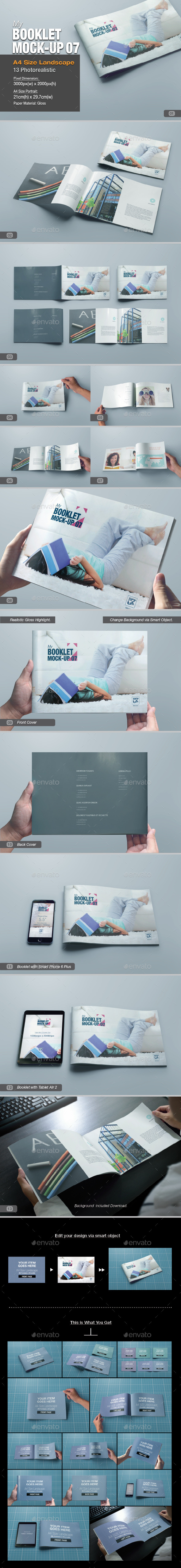 GraphicRiver myBooklet Mock-up 07 10863229