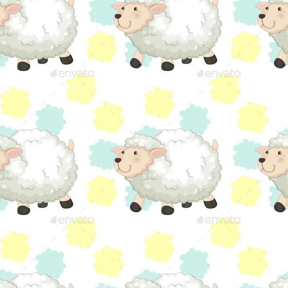 GraphicRiver Sheep Pattern 10863325