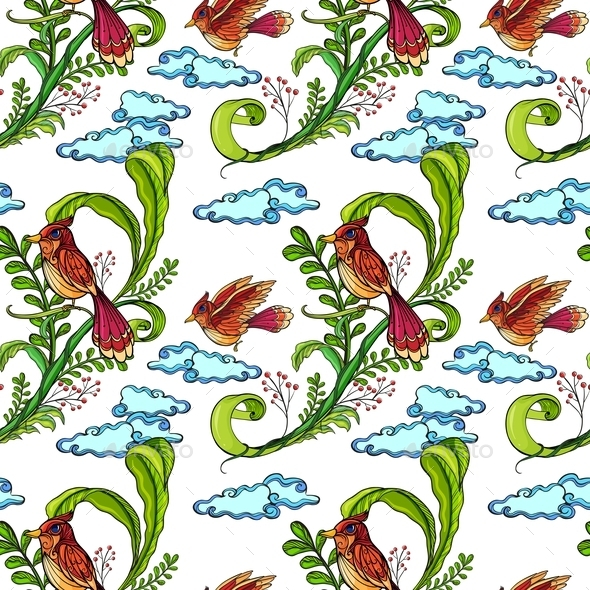 GraphicRiver Seamless Birds Pattern 10863331