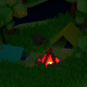 Isometric Low-Poly Camping Trip - 3DOcean Item for Sale
