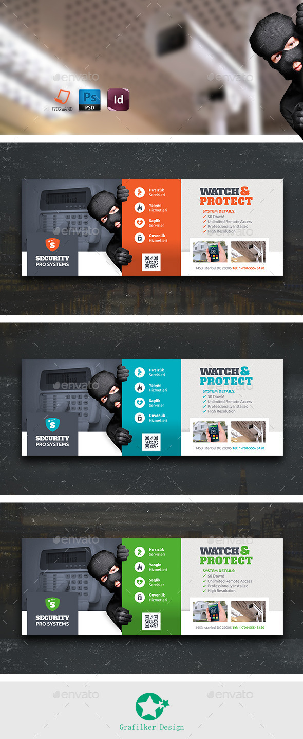 GraphicRiver Security Systems Cover Templates 10863336