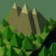 Isometric Low-Poly Mountains Scene - 3DOcean Item for Sale