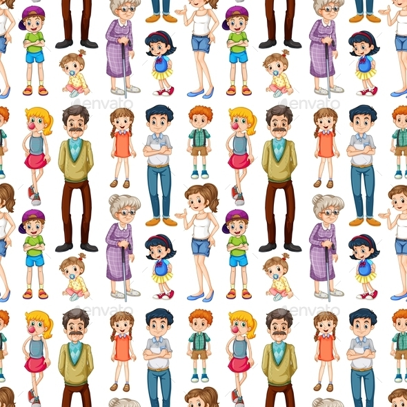 GraphicRiver Seamless Family 10863423