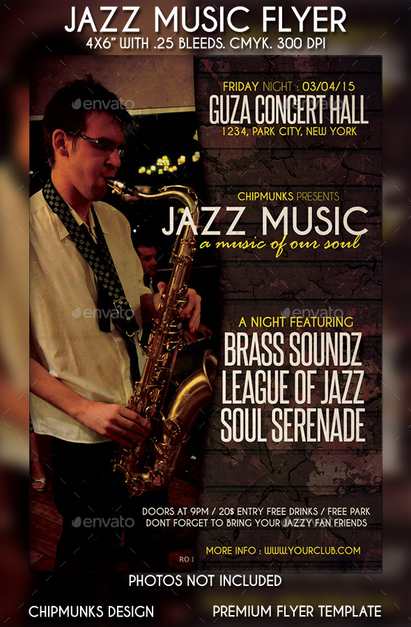 GraphicRiver Jazz Music Flyer 10863508