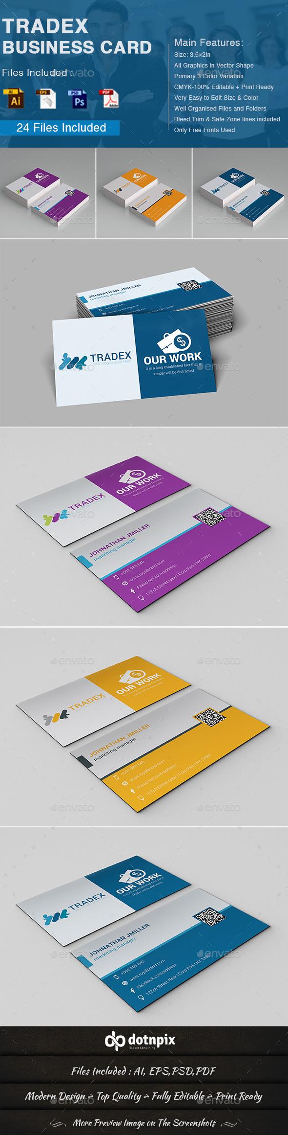 GraphicRiver Tradex Business Card 10863934