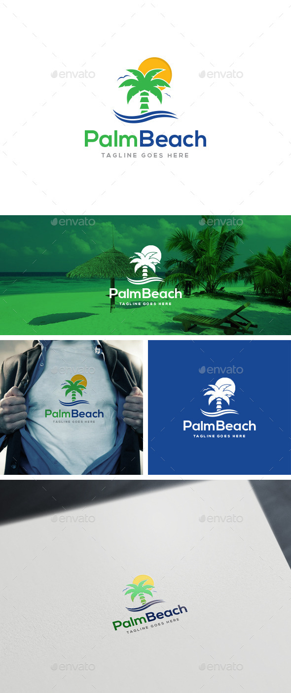 GraphicRiver Palm Beach Logo Templates 10863942