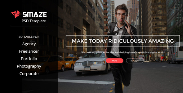ThemeForest Smaze Multi-purpose PSD Template 10864091