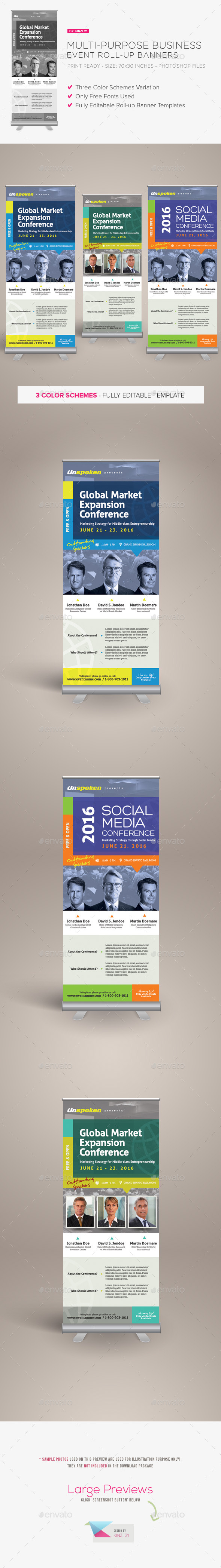 GraphicRiver Multi Purpose Business Event Roll-up Banners 10864094