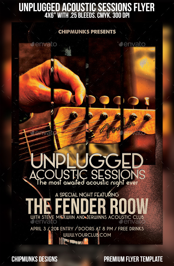 GraphicRiver Unplugged Acoustic Sessions Flyer 10864190