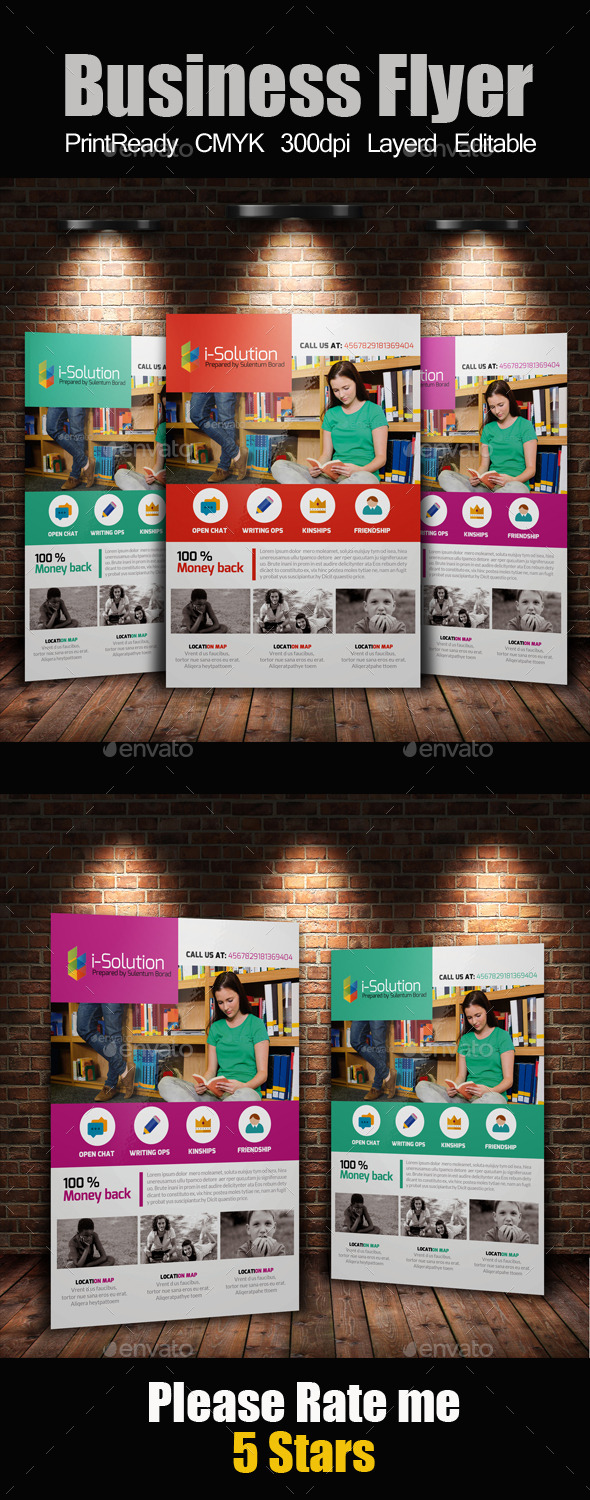 GraphicRiver Education Flyer Template 10864364