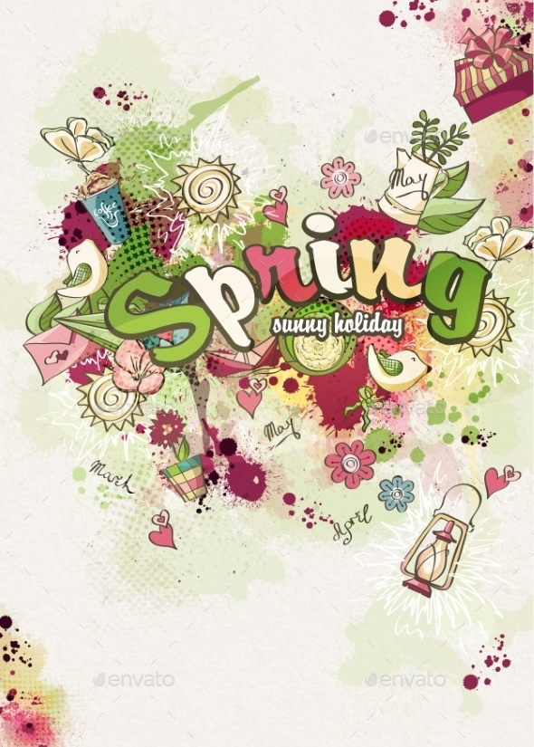 GraphicRiver Spring Card 10864478