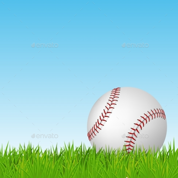 GraphicRiver Baseball on Grass 10864580