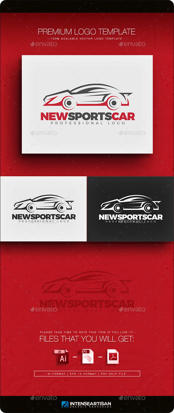 GraphicRiver New Sports Car Logo Template 10864624
