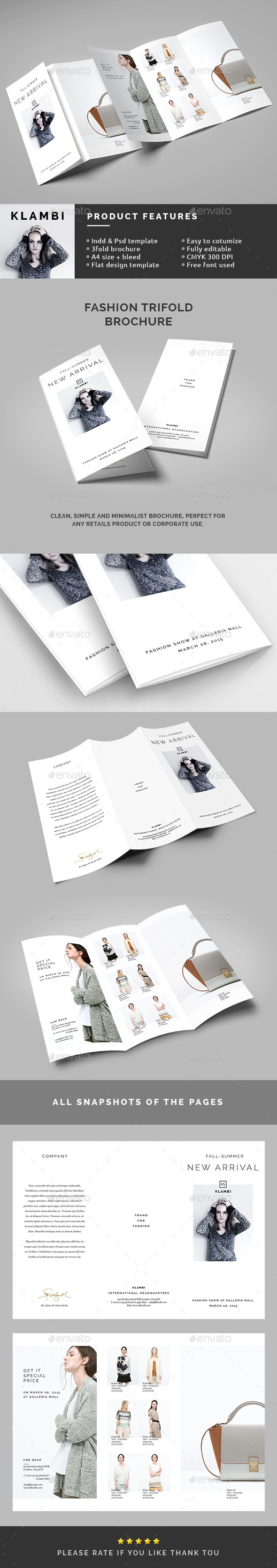 GraphicRiver Fashion Trifold Brochure 10798446