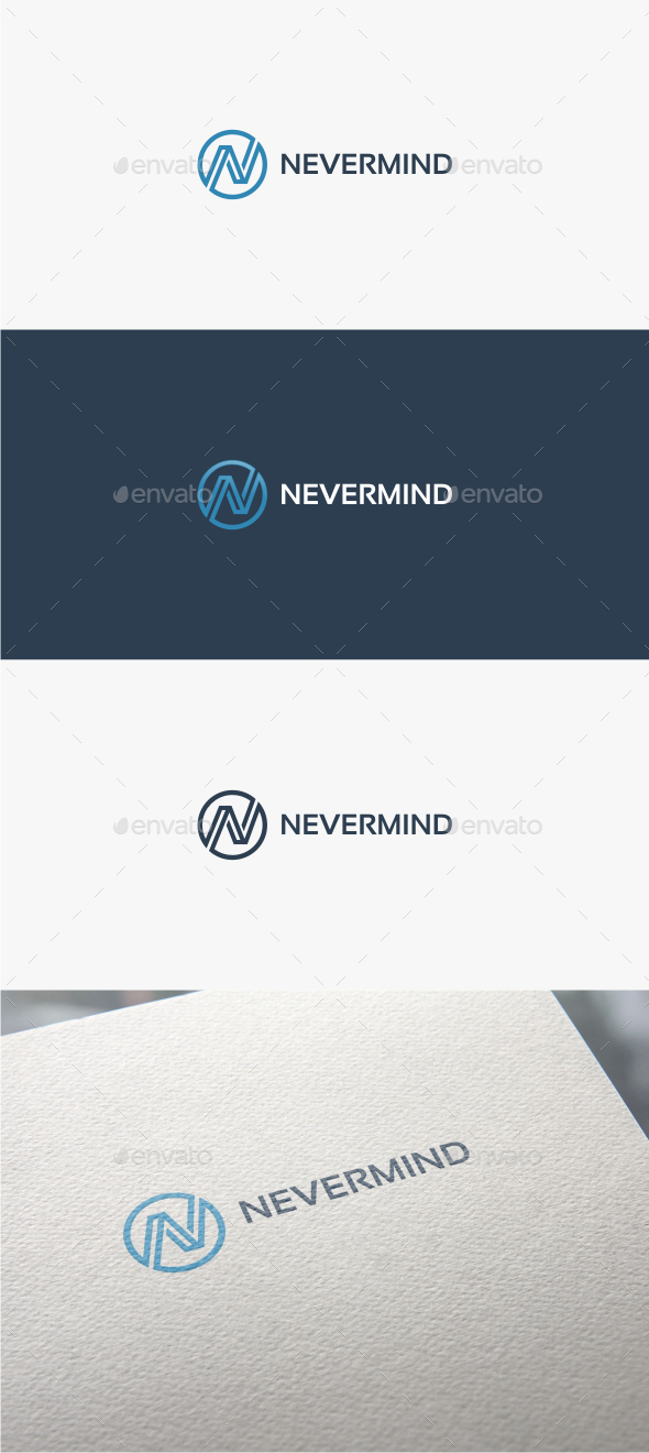 GraphicRiver Nevermind Letter N Logo Template 10865121