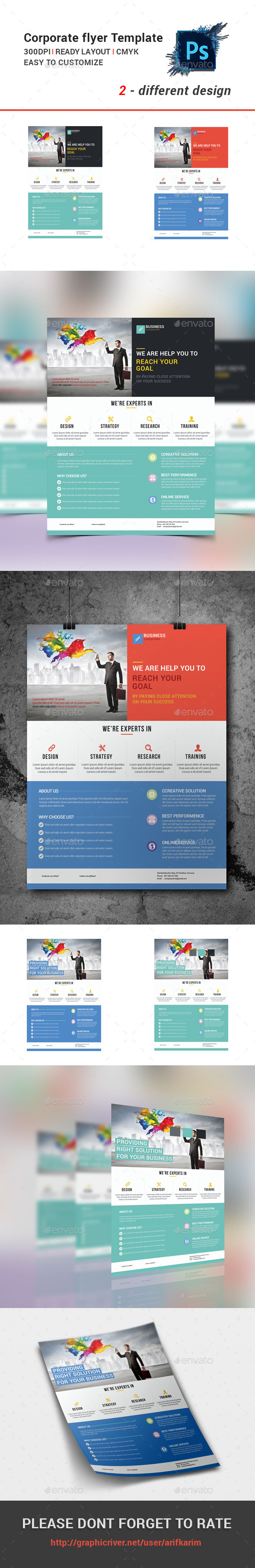 GraphicRiver Flyer Coorporate Business 10713872