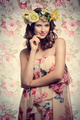 romantic girl with floral style - PhotoDune Item for Sale