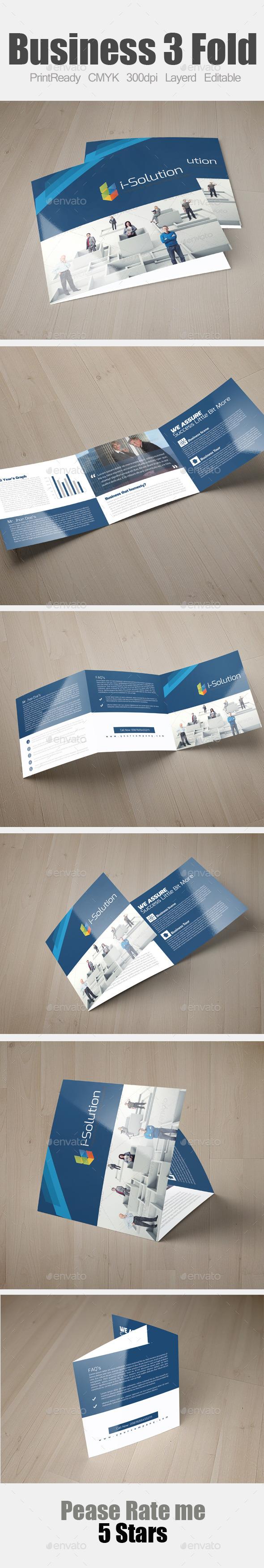 GraphicRiver Multi Use Business Square Trifold Template 10865302