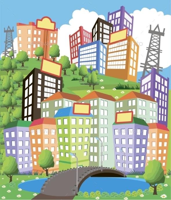 GraphicRiver Cartoon City 10865450