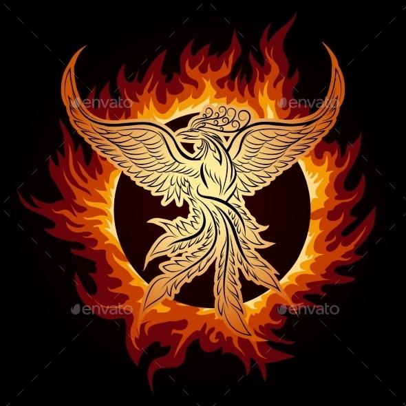 GraphicRiver Phoenix in Flame 10865566