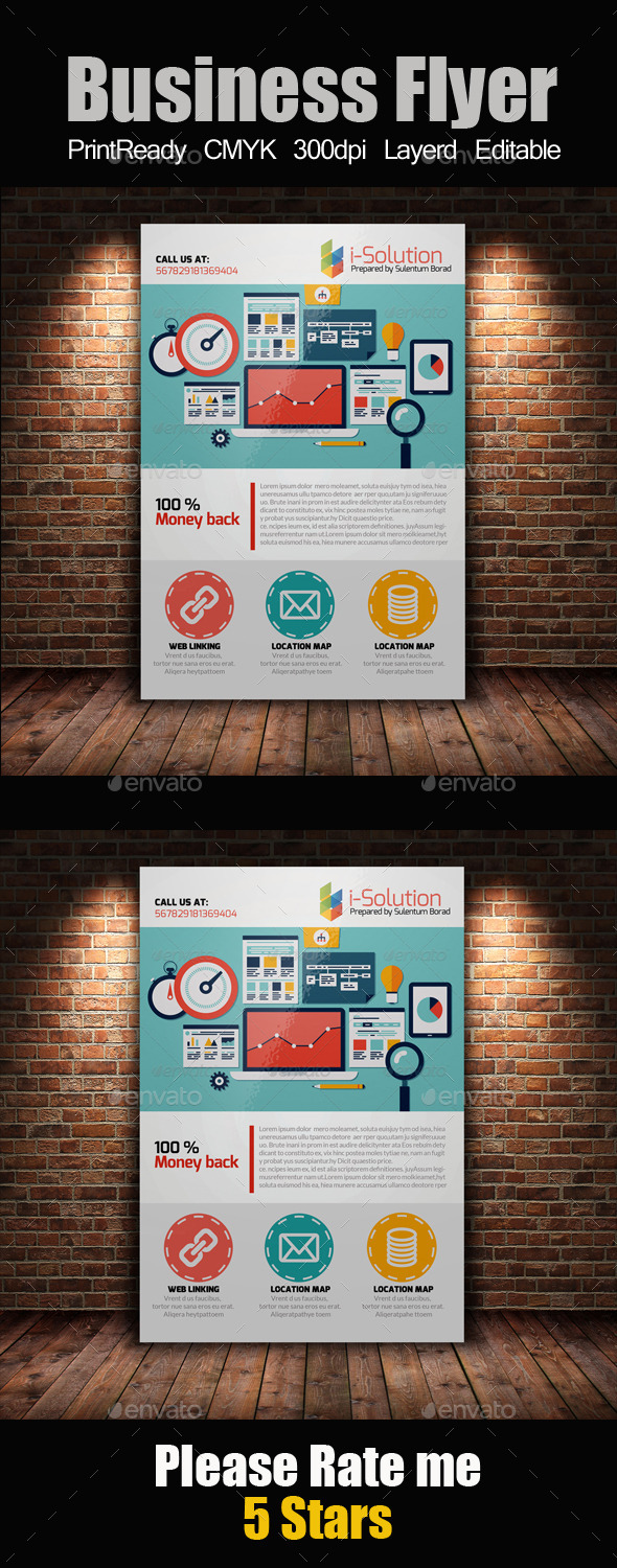GraphicRiver SEO Flyer Template 10865837