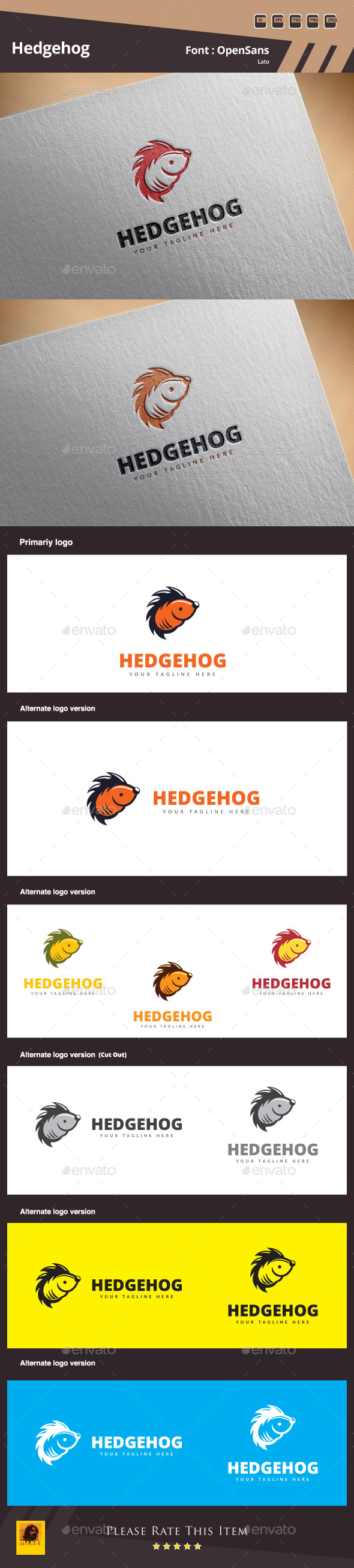 GraphicRiver Hedgehog Logo Template 10865905