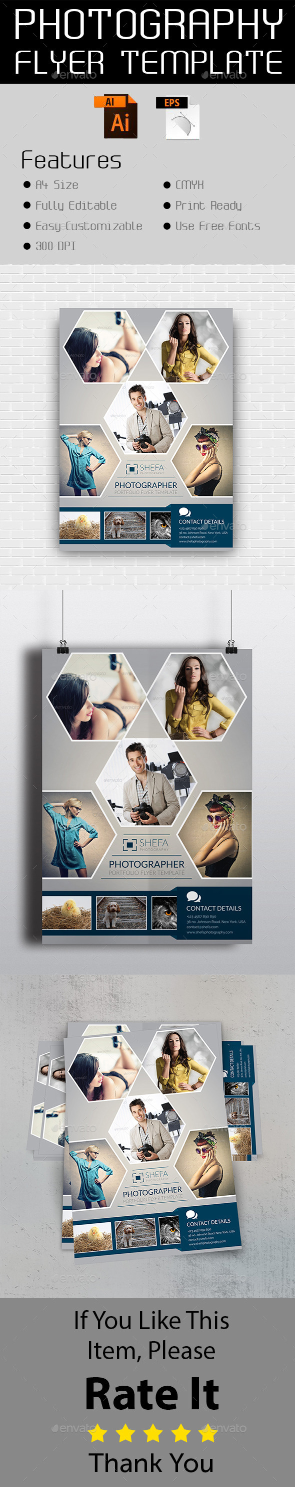 GraphicRiver Photography Flyer Template 10865913
