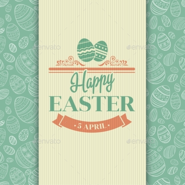 GraphicRiver Easter Card 10866096