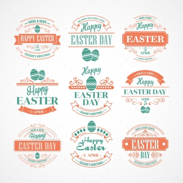 GraphicRiver Easter Labels 10866099