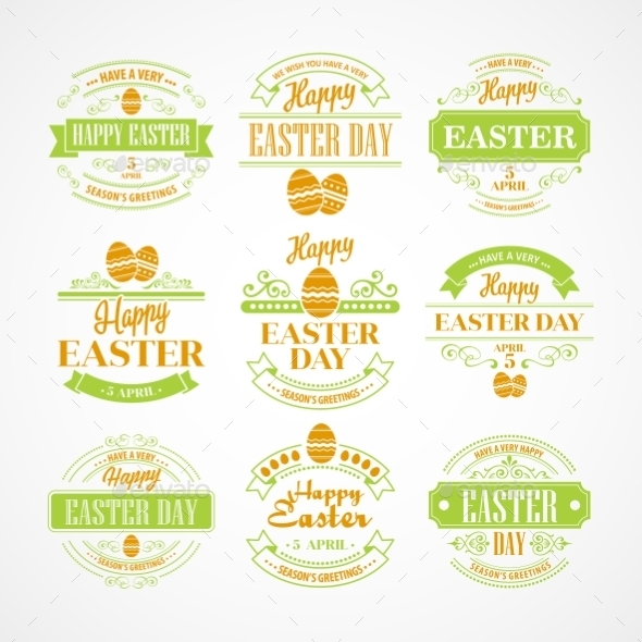 GraphicRiver Easter Labels 10866104