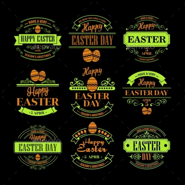GraphicRiver Easter Labels 10866106