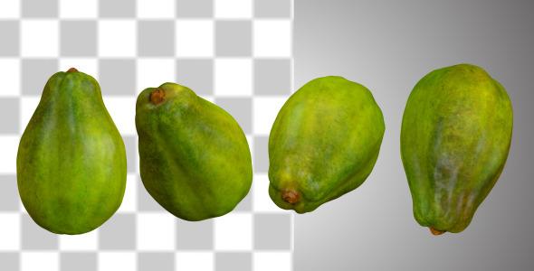 VideoHive Fresh Papaya Fruit 10866119